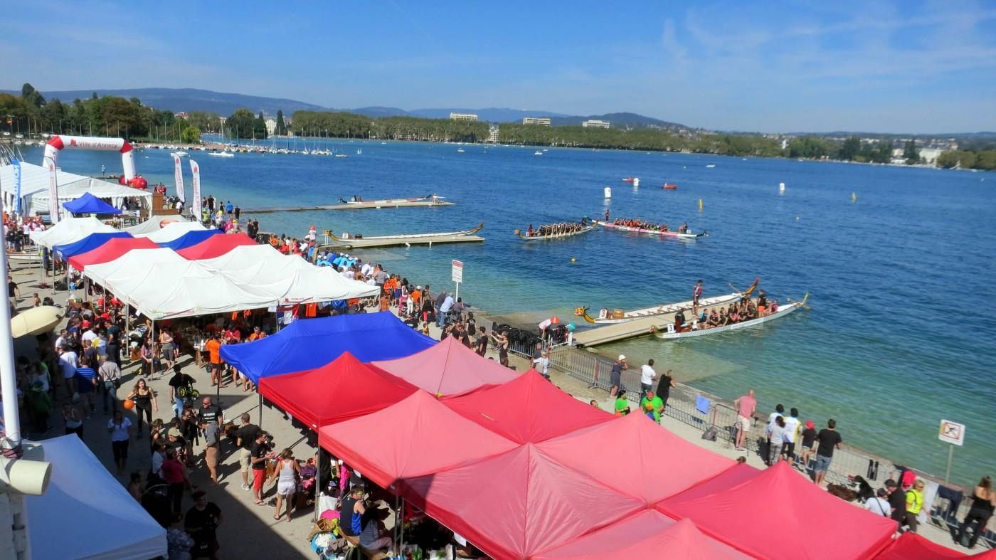 Le village du festival d'Annecy