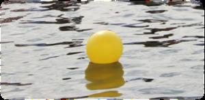 bouée jaune bassin